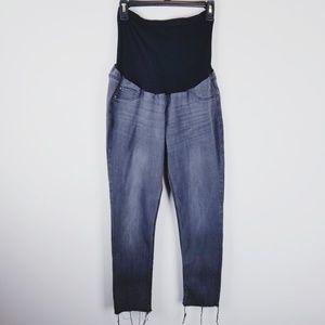 Indigo Blue Maternity skinny raw hem grey jeans xl